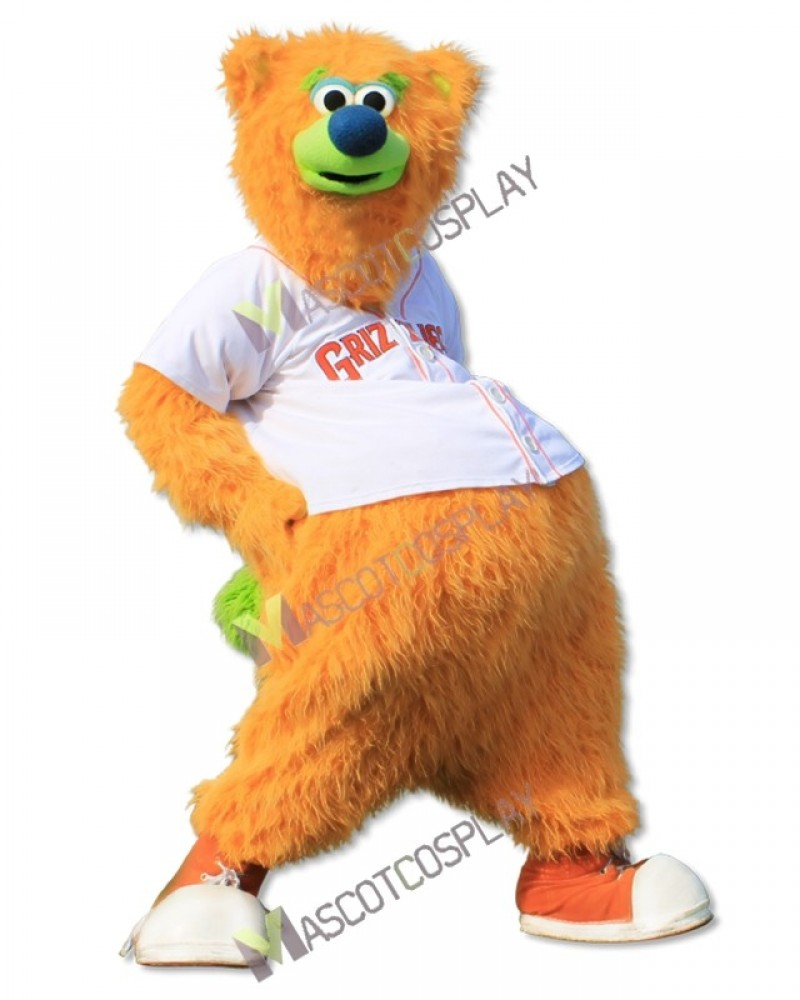 Fresno Grizzlies Parker T. Bear Mascot Costume Yellow Bear Mascot