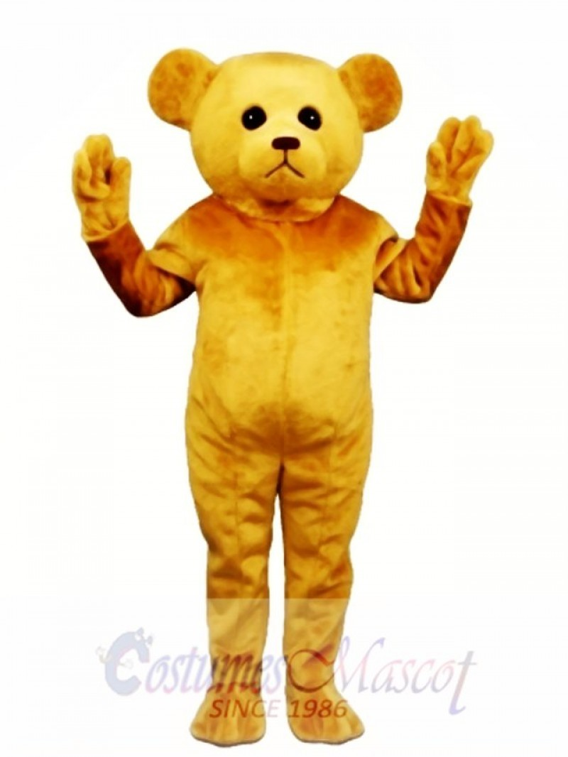 New Tan Teddy Bear Mascot Costume