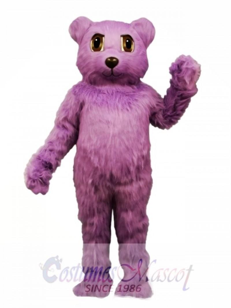 New Purple Bear Mascot Costume