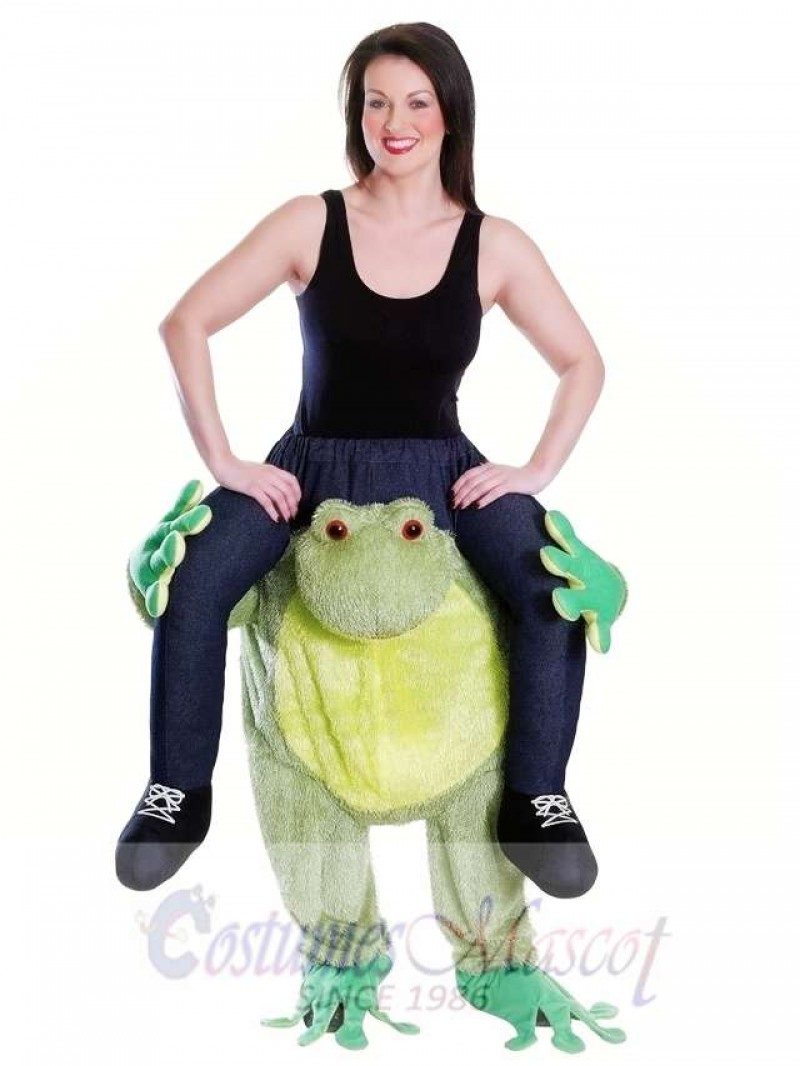 Piggy Back Frog Carry Me Mascot Costume Ride On Frog Fancy Dress