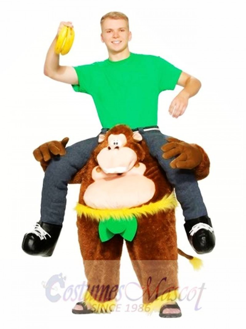 Piggyback Carry Me Ride on Cheeky Monkey Mascot Costume