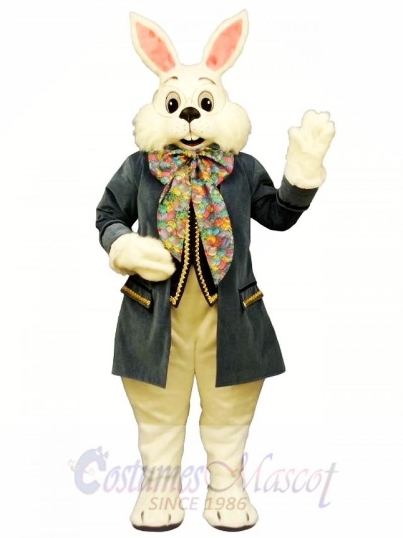 Wendell Blue Rabbit Easter Bunny Mascot Costume