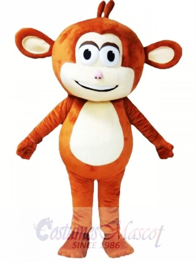 Brown Monkey Mascot Costume