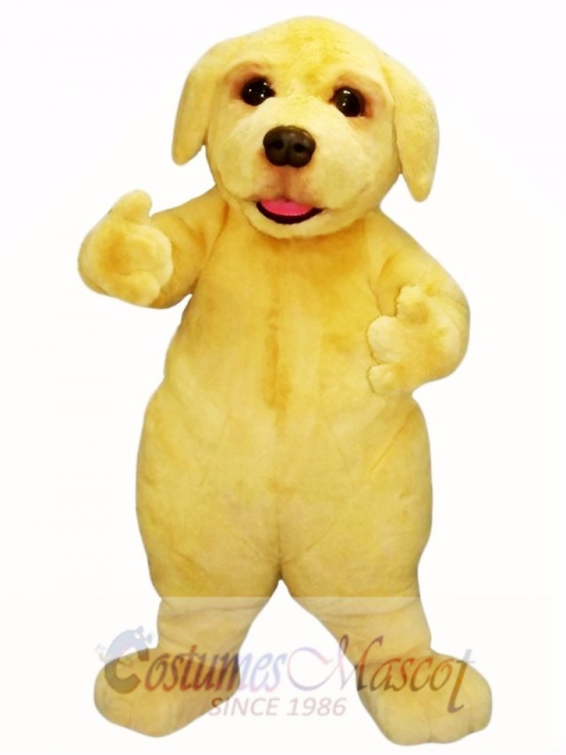 Cute Beige Puppy Dog Mascot Costume