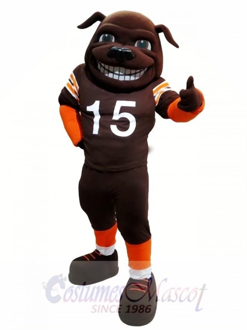 Sun Football Bull Dog Mastiff Mascot Costume