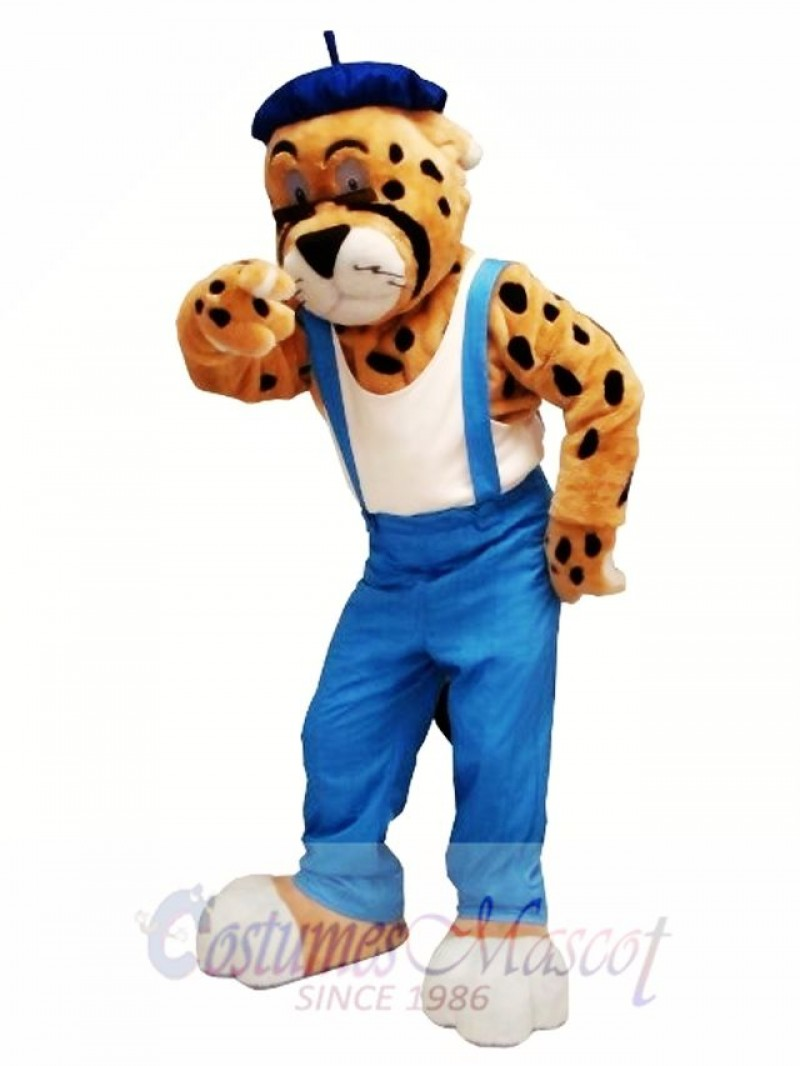 Leisurely Leopard Mascot Costume