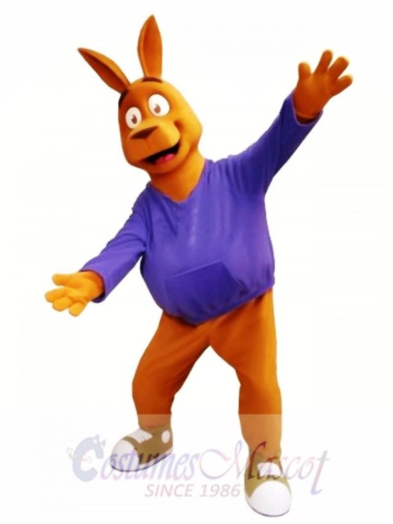 Friendly Kangaroo Mascot Costume