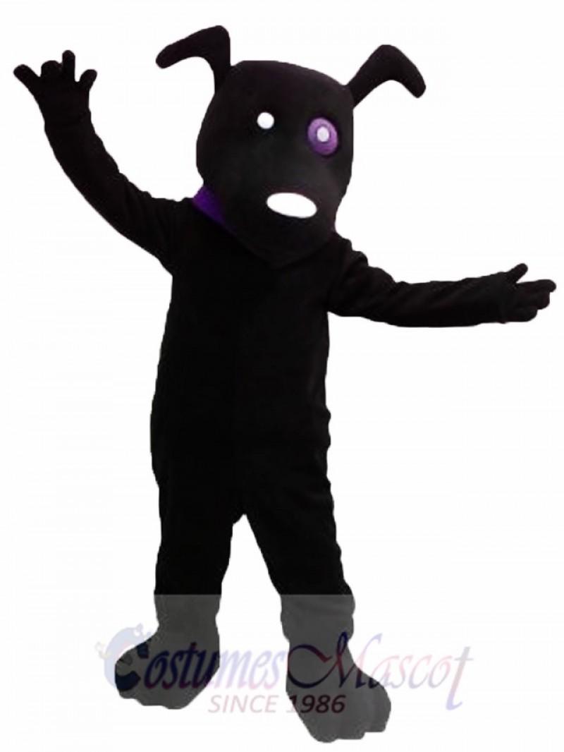 Cute Black Dog Mascot Costume