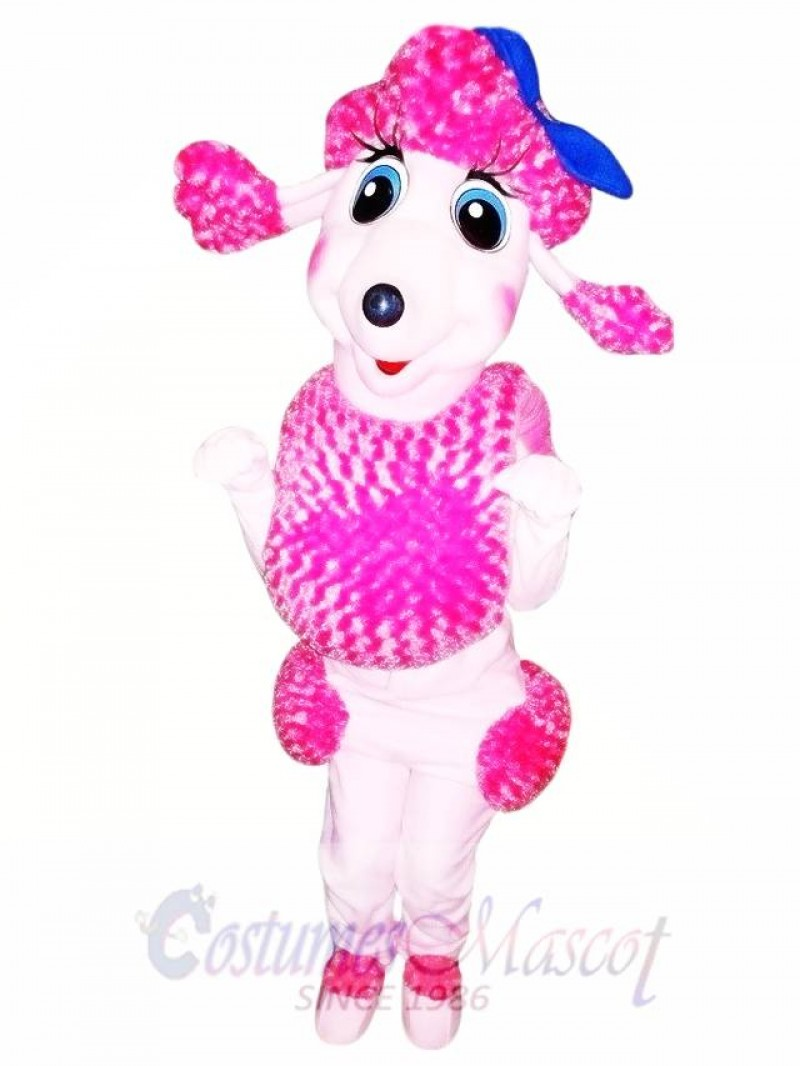 Pink French Poodle Dog Mascot Costume Adult Costume