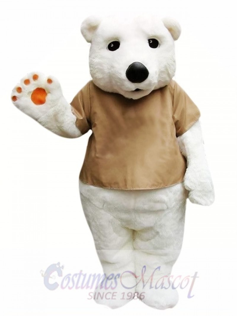 Cute Polar Bear Mascot Costume