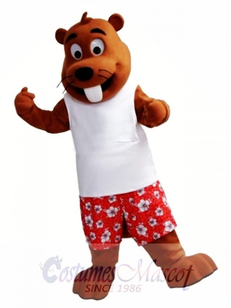 Happy Beaver Mascot Costume
