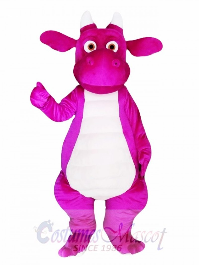 Purple Adult Dragon Mascot Costume