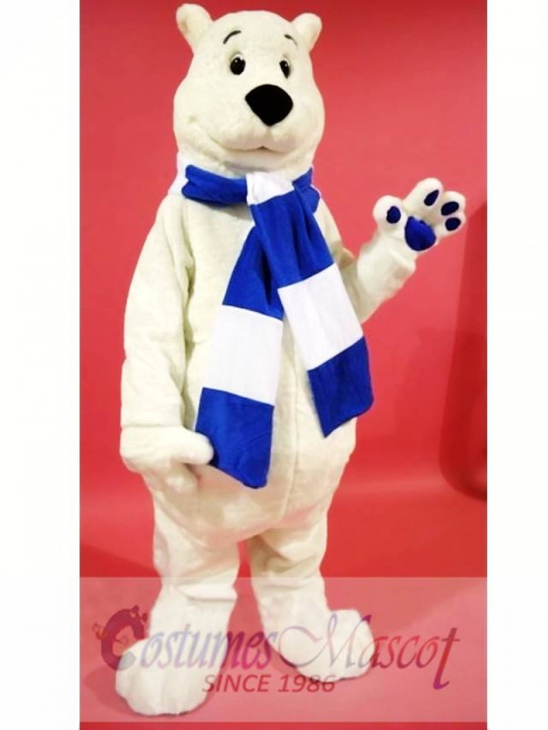Breezy Polar Bear Mascot Costume