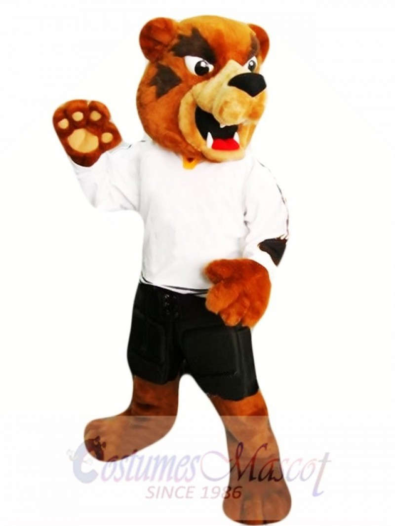 Brown Grizzly Bear Mascot Costume