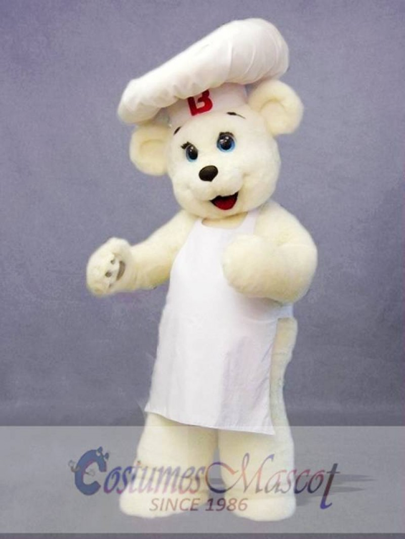 Chef Bear Mascot Costume