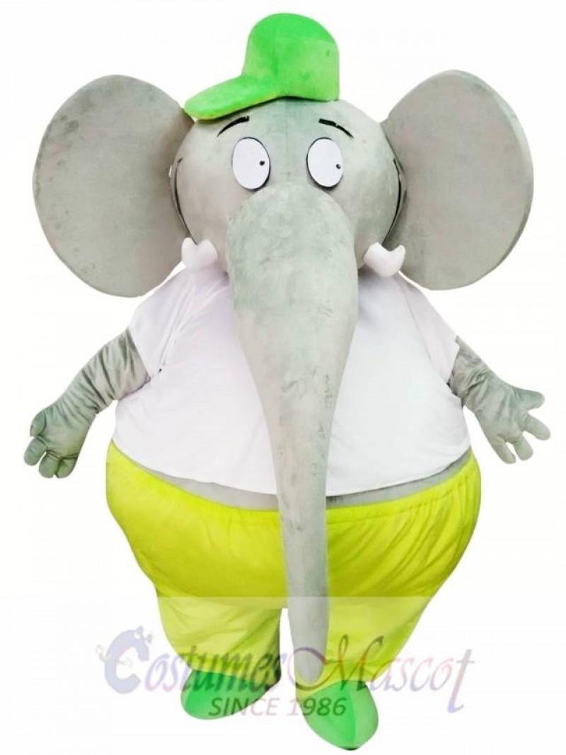 Big Fat Grey Elephant Mascot Costume