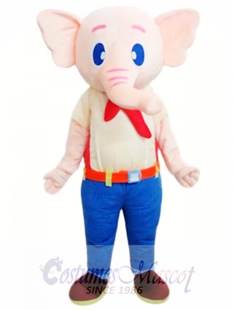 Beige Elephant Mascot Costume