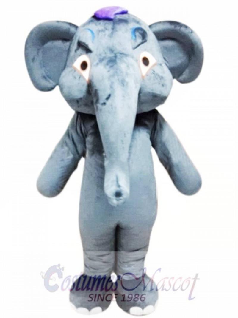 Grey Adult Elephant Mascot Costume