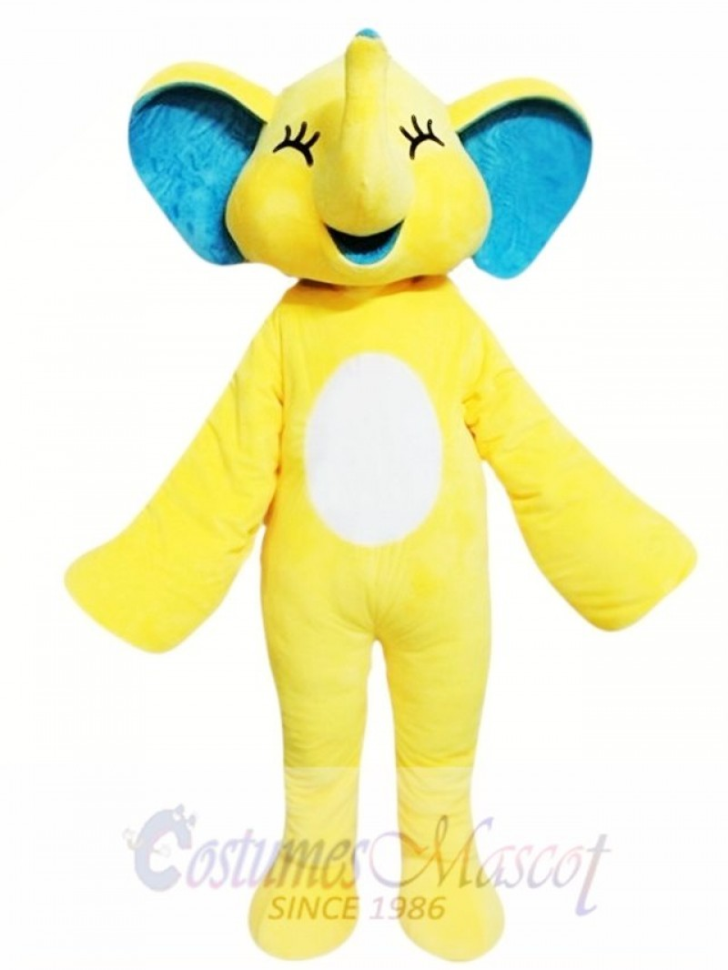 Yellow Elephant Mascot Costume