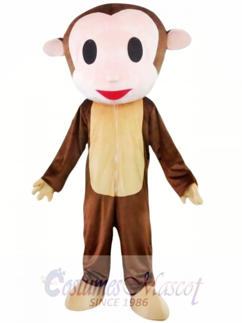 Big Head Monkey Mascot Costume
