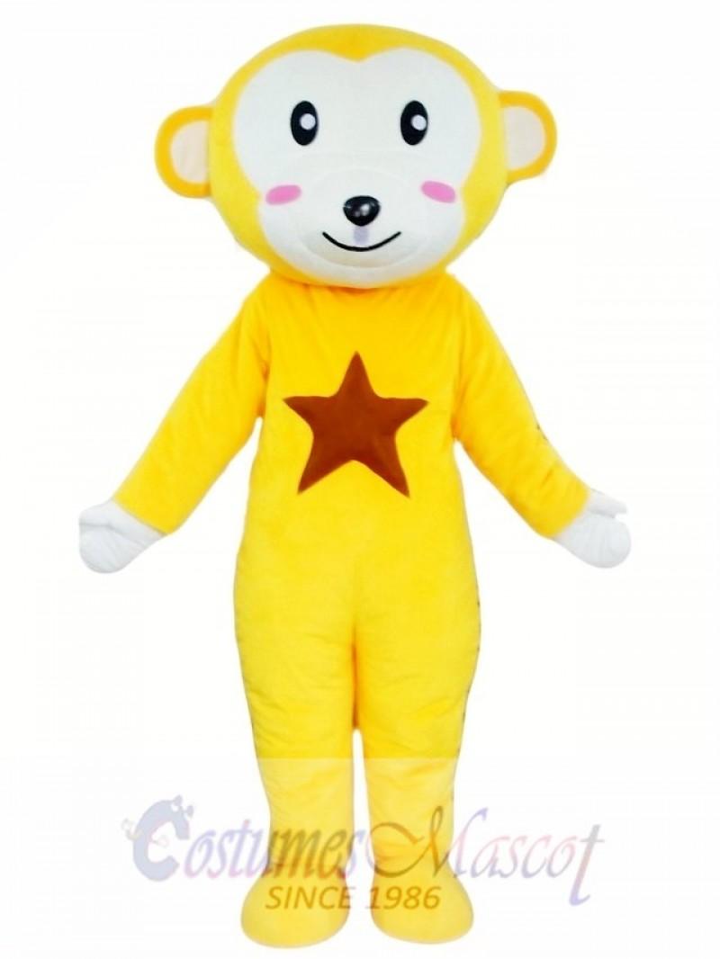 Yellow Monkey Mascot Costume