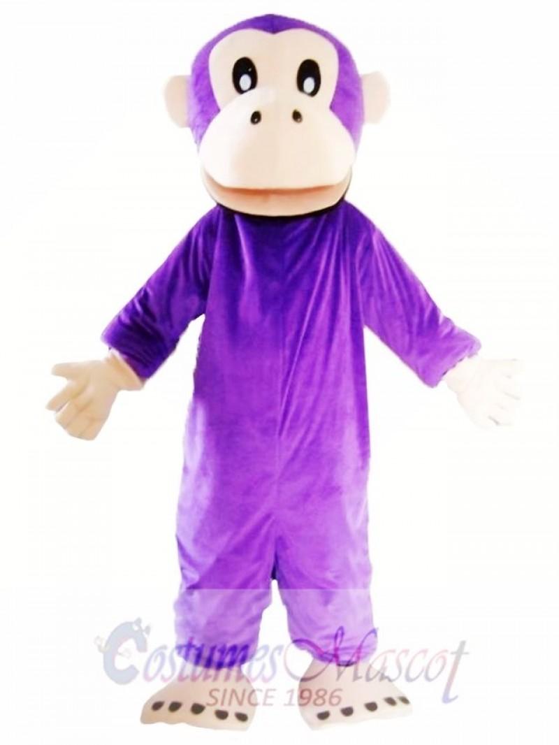 Adult Purple Gorilla Mascot Costume