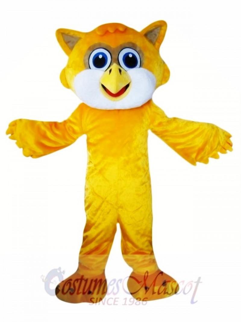 Yellow Owl Mascot Costume