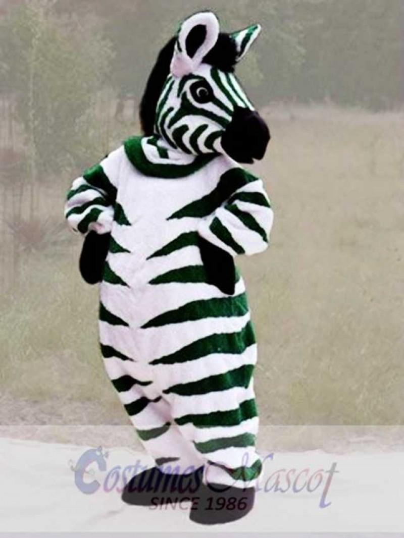 Green Zebra Mascot Costume