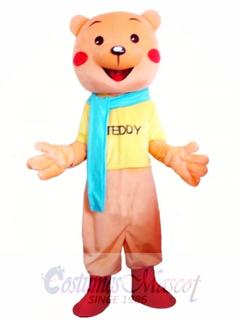 Cartoon Teddy Bear Mascot Costume