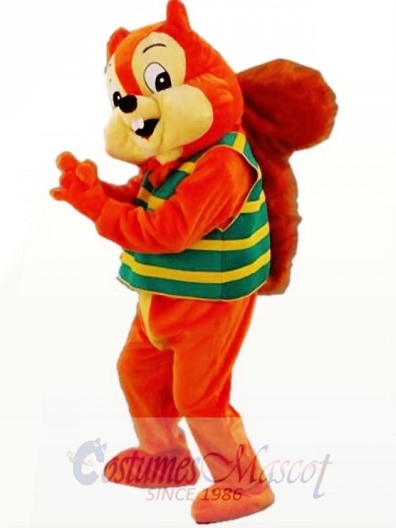 Orange Cute Squirrel Mascot Costume