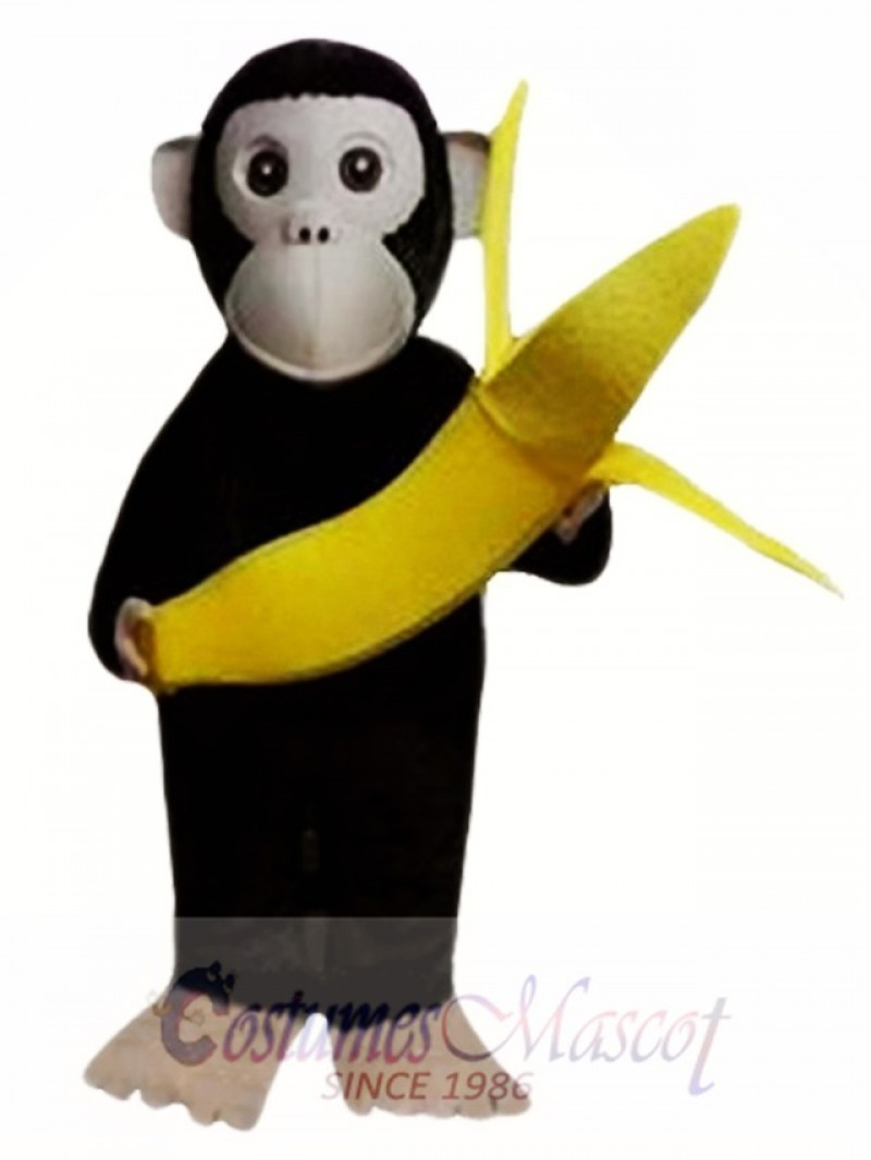 Chimpanzees and Banana Mascot Costumes