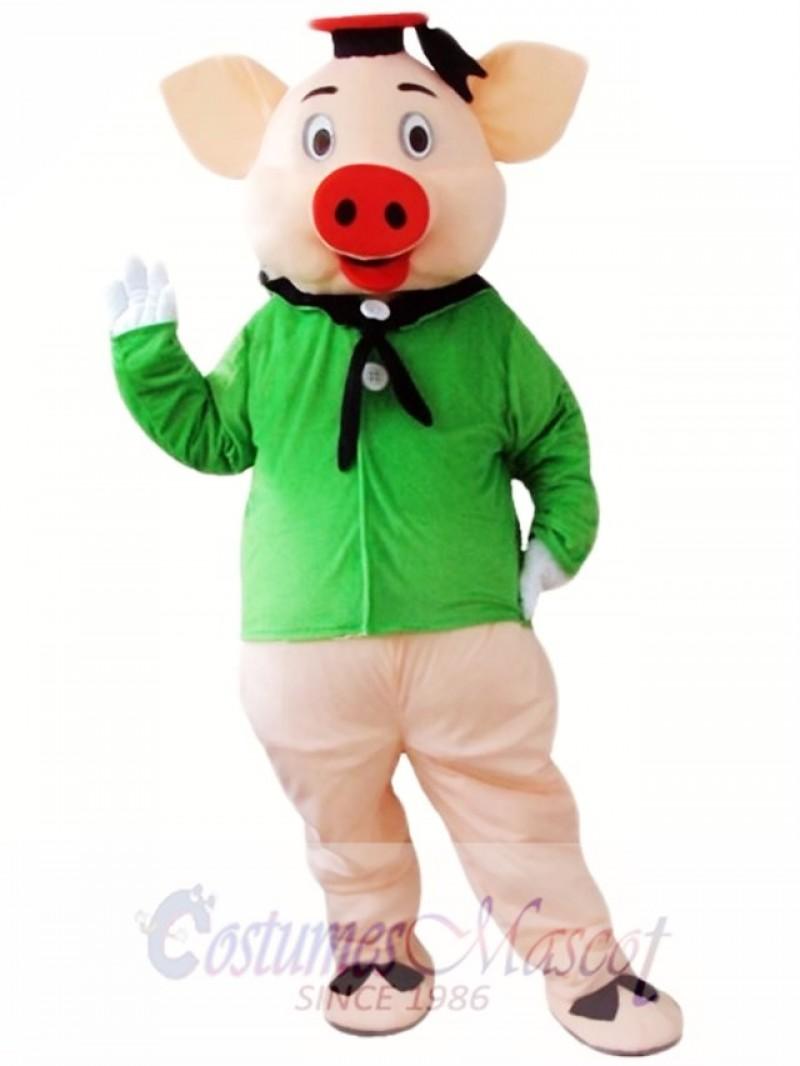 Green Pig Mascot Costume