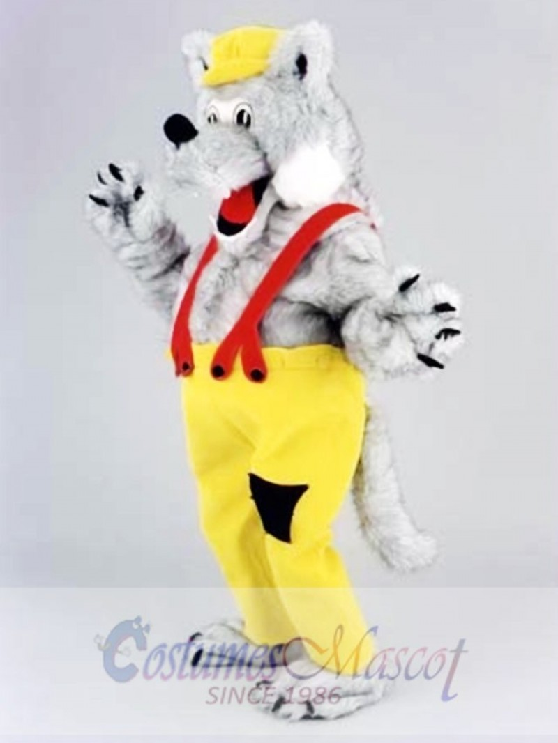 Happy Wolf Mascot Costume