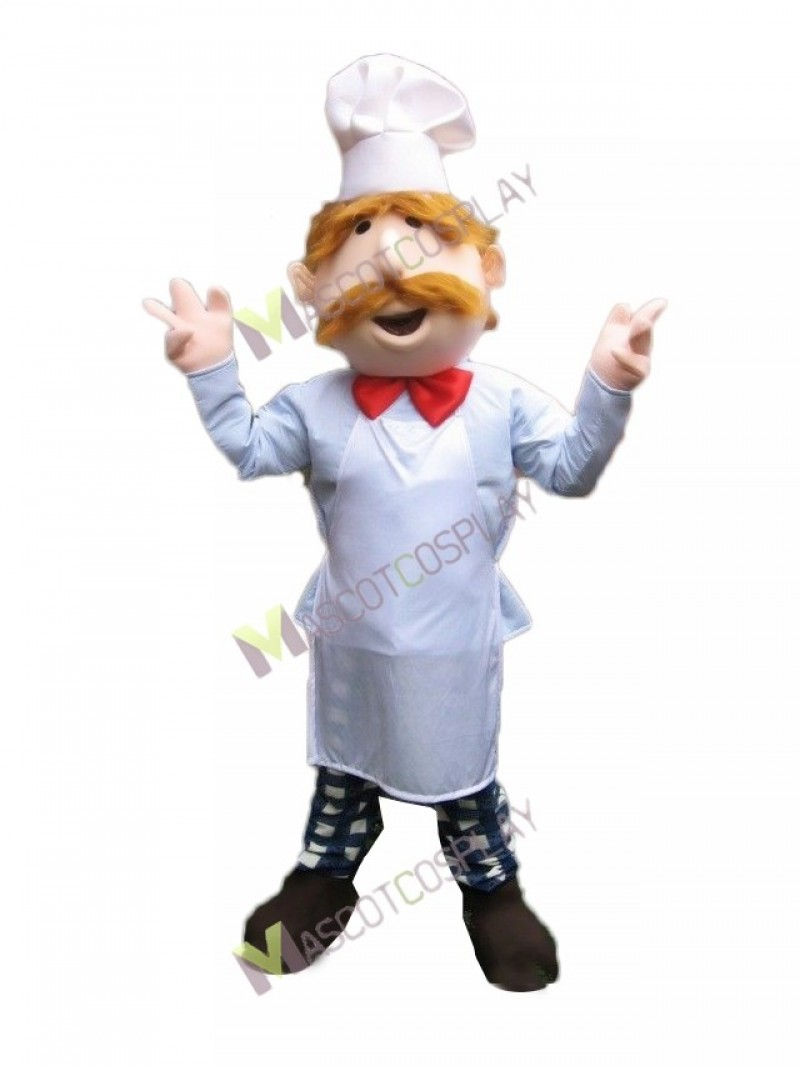 High Quality Adult Restaurant Promotion French or Italian Chef Mascot Costume