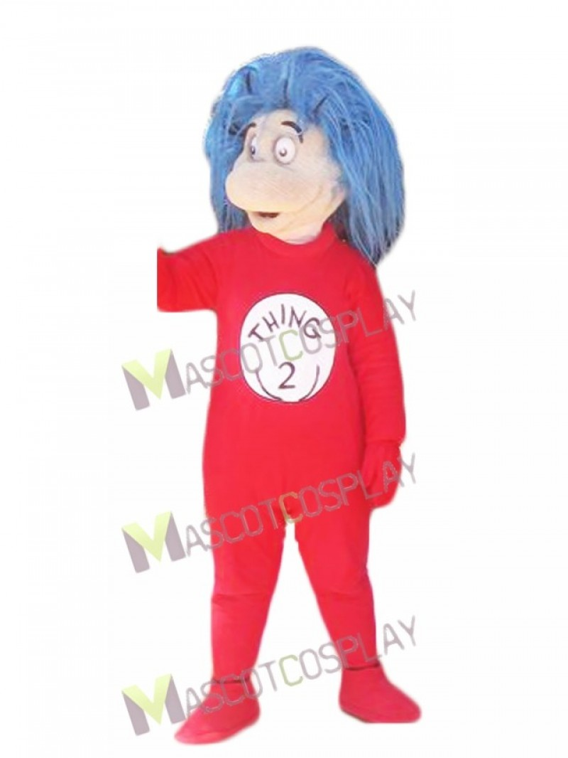 Thing 2 Thing Two Mascot Costumes from The Cat in the Hat book
