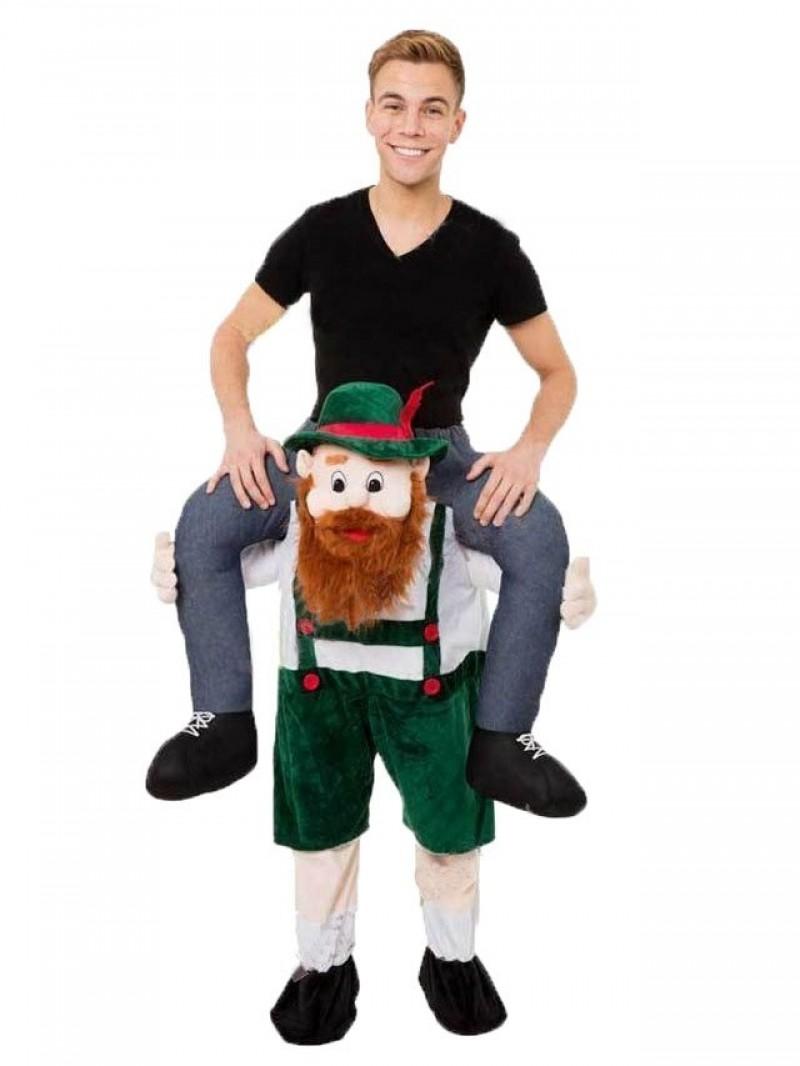 Piggy Back Carry Me Bavarian Beer Guy Ride Mascot Costume Fancy Dress