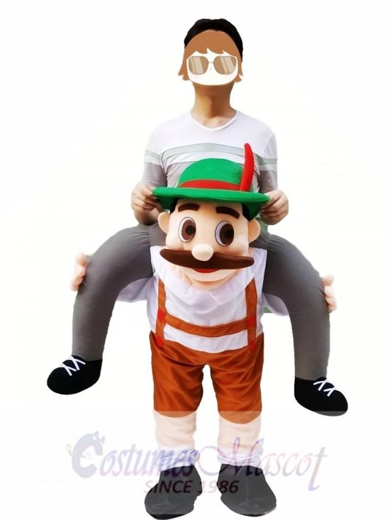 Piggy Back Shoulder Bavarian Oktoberfest Beer Guy Carry Me Ride Mascot Costume