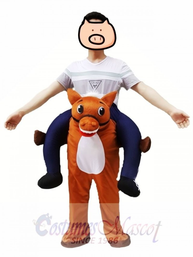 Wild Western Horse Carry Me Piggy Back Mascot Farm Cowboy Costume