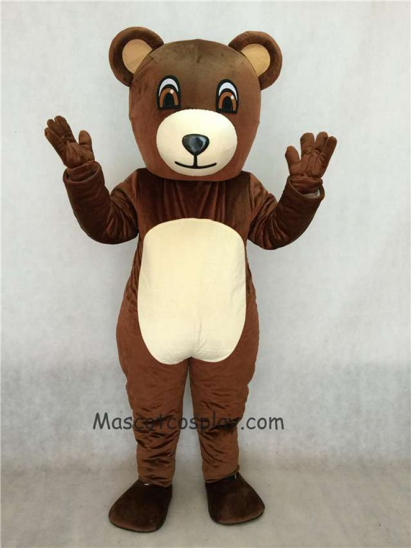 High Quality Realistic Animal Chocolate Bear Mascot Costume