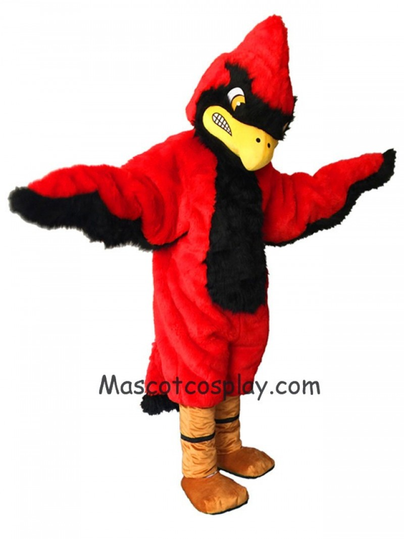 Strong Red Fierce Cardinal Mascot Costume