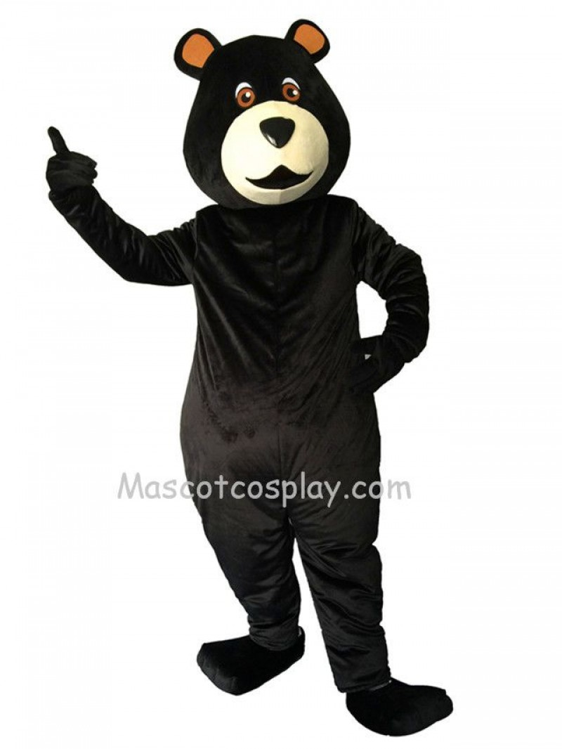New Black Bear Big Belly Mascot Costume