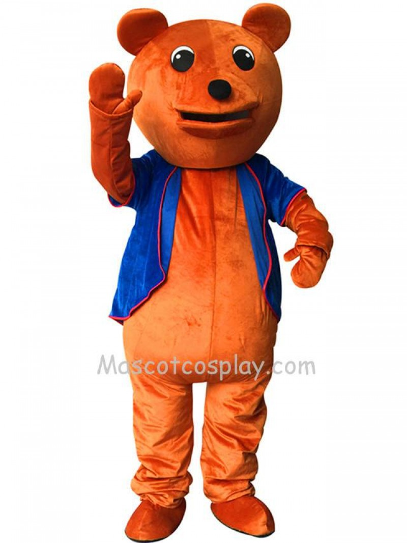 Cute Brown Dull Bear Mascot Costume