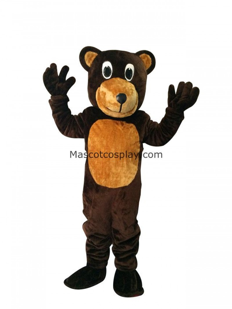 New Bongo Brown Bear Mascot Costume