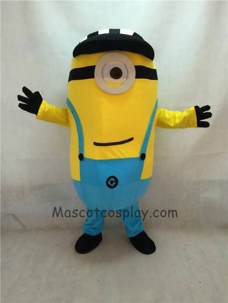 High Quality Despicable Me Minions Mascot Costume Custom Anime Cosplay Theme Fancydress Carnival with Hat