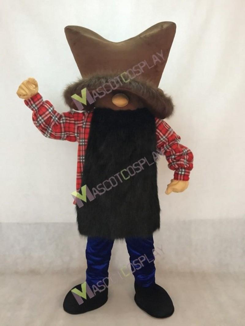 Miner Mascot Costume in Royal Blue Pants