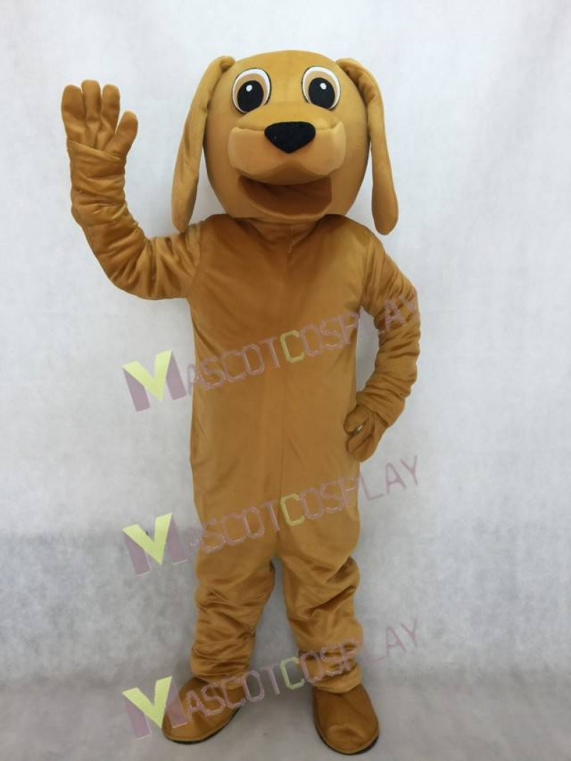 Adorable Lovely Golden Dog Mascot Adult Costume