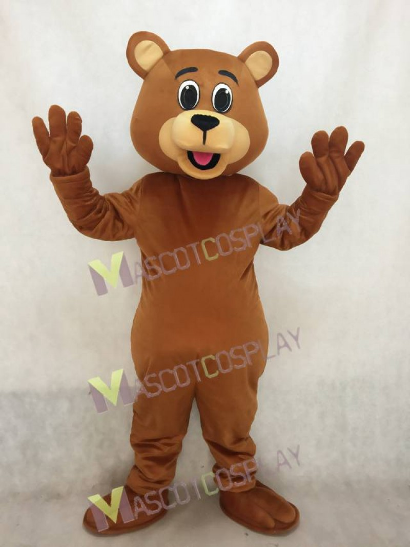 Lucky Dark Brown Bear Mascot Costume