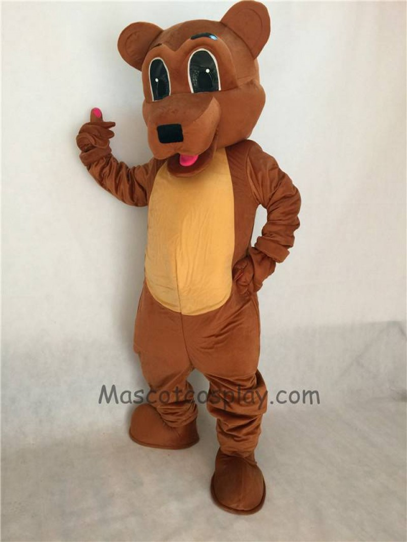 Cute Brown Bear Adult Mascot Costume