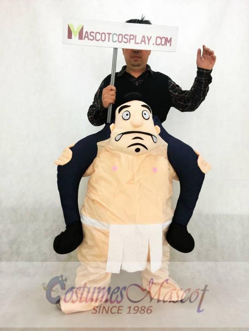 Carry Me Japanese Sumo Costume Ride On Wrestler Piggy Back Mascot Costume