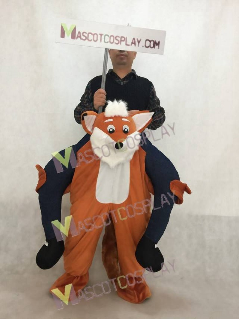 Carry Me Funny Fox Piggy Back Mascot Costume Ride On Fox Fancy Dress